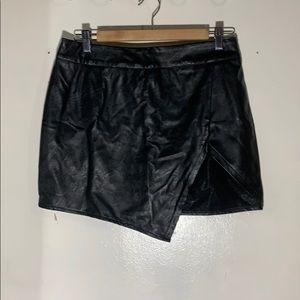 Dresses & Skirts - Black leather mini skirt